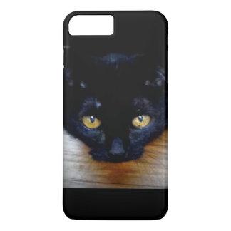 Capa iPhone 8 Plus/7 Plus Gato preto com os olhos do ouro
