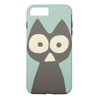 Capa iPhone 8 Plus/7 Plus Gato simbólico do triângulo cinzento verde da água