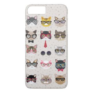 Capa iPhone 8 Plus/7 Plus Gatos engraçados com caso positivo do iPhone 7 dos