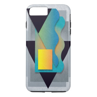 Capa iPhone 8 Plus/7 Plus Geometrics na pedra fumarento, crista amarelo