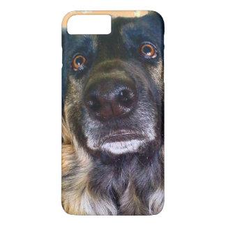 Capa iPhone 8 Plus/7 Plus German shepherd triste dos olhos, caso positivo de