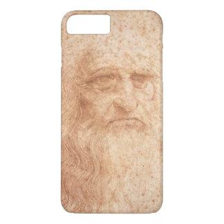 Capa iPhone 8 Plus/7 Plus Giz vermelho, auto-retrato de Leonardo da Vinci