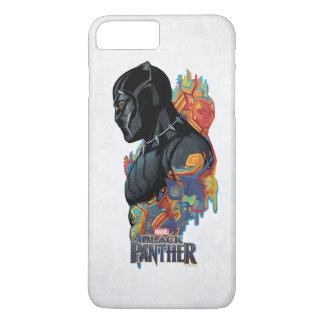 Capa iPhone 8 Plus/7 Plus Grafites tribais da pantera preta de pantera preta