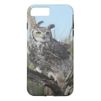 Capa iPhone 8 Plus/7 Plus Grande coruja Horned