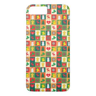 Capa iPhone 8 Plus/7 Plus Grande teste padrão do Natal