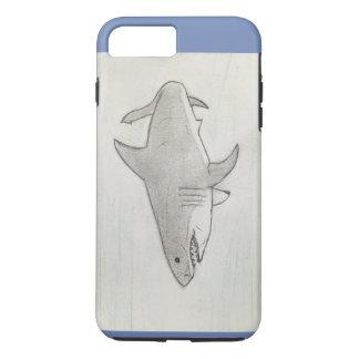 Capa iPhone 8 Plus/7 Plus Grande tubarão branco tirado mão