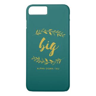 Capa iPhone 8 Plus/7 Plus Grinalda grande da tau do Sigma alfa