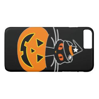 Capa iPhone 8 Plus/7 Plus Grupo do Dia das Bruxas da bruxa do gato