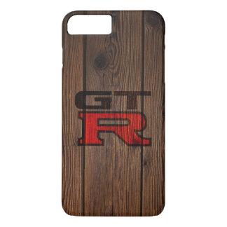 Capa iPhone 8 Plus/7 Plus GT-r simulada de madeira