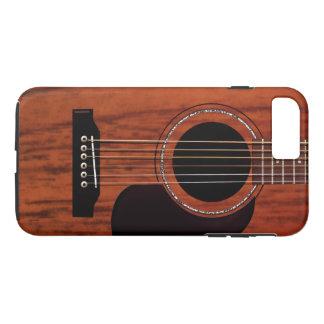 Capa iPhone 8 Plus/7 Plus Guitarra acústica superior de mogno