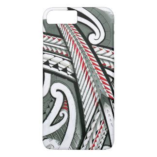 Capa iPhone 8 Plus/7 Plus hawai cinzento vermelho da ilha do design do