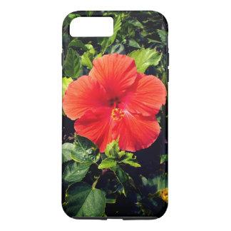 Capa iPhone 8 Plus/7 Plus Hibiscus alaranjado