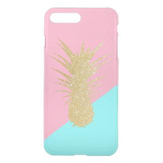 Capa iPhone 8 Plus/7 Plus hortelã elegante do rosa do abacaxi do brilho do