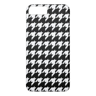 Capa iPhone 8 Plus/7 Plus Houndstooth preto e branco