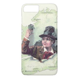 Capa iPhone 8 Plus/7 Plus Ilha de Ireland do trevo do Leprechaun