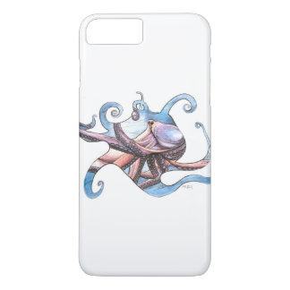 Capa iPhone 8 Plus/7 Plus Ilustração do polvo no caso do telemóvel