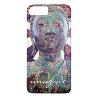 """Capa iPhone 8 Plus/7 Plus """"Imagine"""" a foto asiática da cabeça da estátua de"""