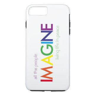 Capa iPhone 8 Plus/7 Plus Imagine o caso resistente positivo do iPhone 7
