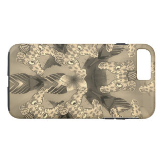 Capa iPhone 8 Plus/7 Plus Impressão animal do girafa africano surpreendente
