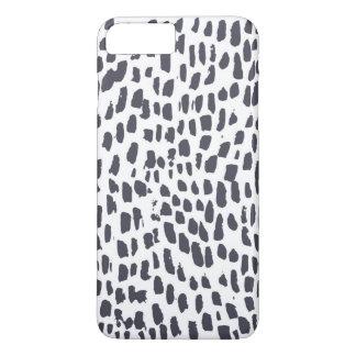 Capa iPhone 8 Plus/7 Plus Impressão da escova do leopardo