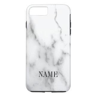 Capa iPhone 8 Plus/7 Plus Impressão de pedra de mármore branco do fundo