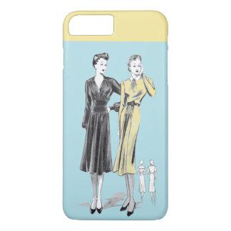 Capa iPhone 8 Plus/7 Plus Impressão do desenhador de moda do vintage das