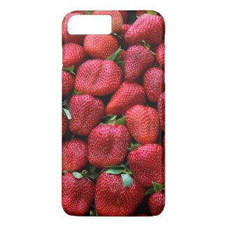 Capa iPhone 8 Plus/7 Plus Impressão vermelho fresco da foto das morangos
