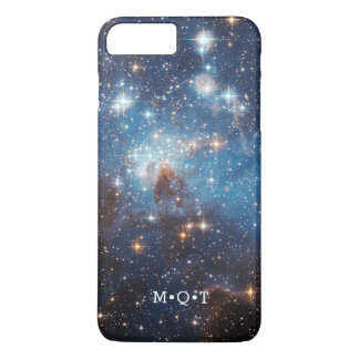 Capa iPhone 8 Plus/7 Plus Iniciais personalizadas do conjunto de estrela da