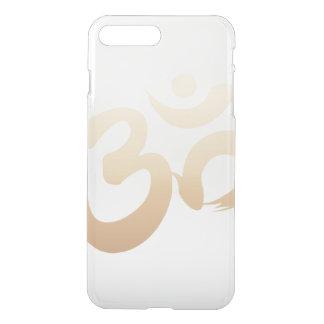 Capa iPhone 8 Plus/7 Plus Ioga à moda do símbolo do OM do ouro