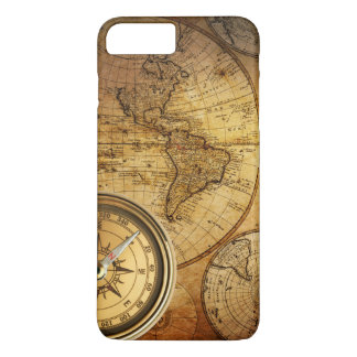 Capa iPhone 8 Plus/7 Plus iPhone 7 do compasso e do mapa positivo, mal lá