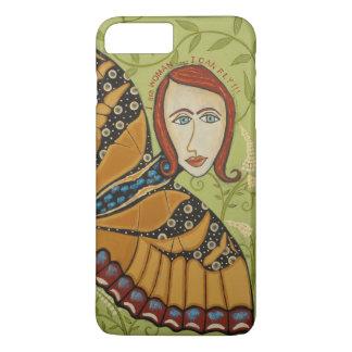 Capa iPhone 8 Plus/7 Plus iPhone 8/7 - Mal lá - eu sou mulher/borboleta