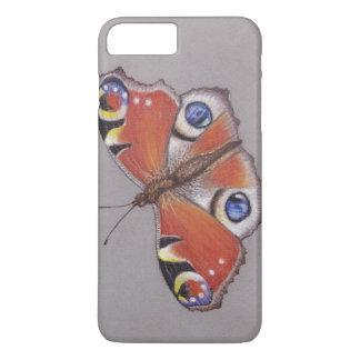 Capa iPhone 8 Plus/7 Plus Iphone 8 da borboleta de pavão mais o caso 7