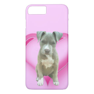Capa iPhone 8 Plus/7 Plus Iphone azul do filhote de cachorro do pitbull 7/8