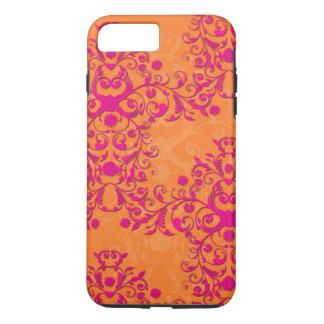 Capa iPhone 8 Plus/7 Plus iPhone cor-de-rosa do tango da tangerina e