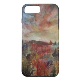 Capa iPhone 8 Plus/7 Plus iPhone da arte da paisagem do dia do outono/caso