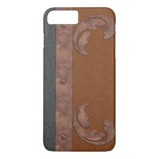 Capa iPhone 8 Plus/7 Plus iPhone do olhar do couro & do cobre 8/7 de caso