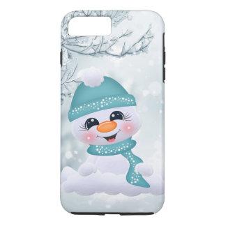 Capa iPhone 8 Plus/7 Plus iPhone festivo do feriado do boneco de neve do
