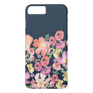 Capa iPhone 8 Plus/7 Plus iPhone floral azul 8/7 de caso