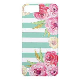 Capa iPhone 8 Plus/7 Plus iPhone floral do teste padrão da aguarela feminino
