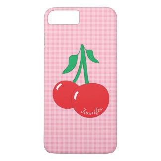 Capa iPhone 8 Plus/7 Plus iPhone retro do guingão das cerejas 8 Plus/7 mais