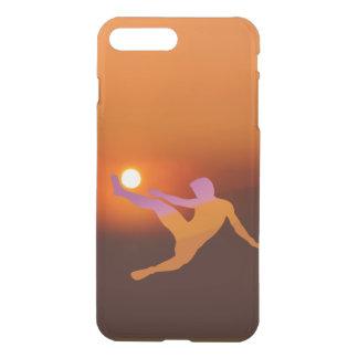 Capa iPhone 8 Plus/7 Plus iPhone X/8/7 do futebol de Sun mais o caso claro