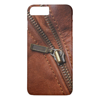 Capa iPhone 8 Plus/7 Plus iPhone: Zipper da jaqueta de couro do motociclista
