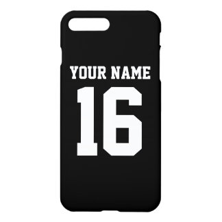 Capa iPhone 8 Plus/7 Plus Jérsei de equipe desportivo preto