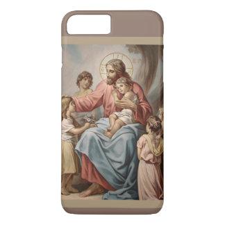 Capa iPhone 8 Plus/7 Plus Jesus com as meninas dos meninos das crianças
