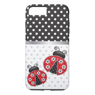 Capa iPhone 8 Plus/7 Plus Joaninhas com bolinhas