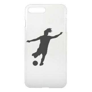 Capa iPhone 8 Plus/7 Plus Jogador de futebol da mulher
