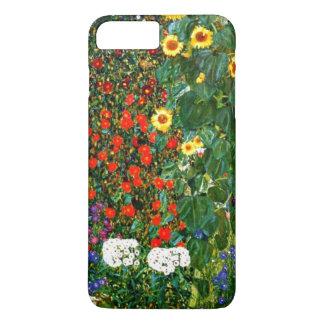 Capa iPhone 8 Plus/7 Plus Klimt - jardim da fazenda com girassóis