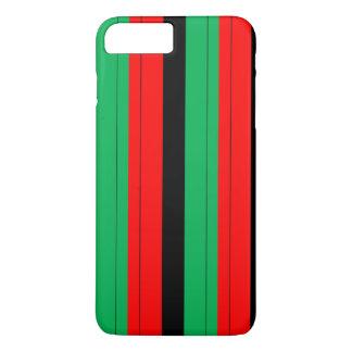 Capa iPhone 8 Plus/7 Plus Kwanzaa colore o teste padrão verde preto vermelho