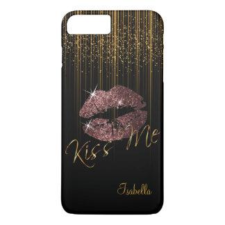 Capa iPhone 8 Plus/7 Plus Lábios do brilho do rosa da obscuridade & luzes da
