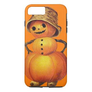 Capa iPhone 8 Plus/7 Plus Laranja de sorriso do boneco de neve da abóbora
